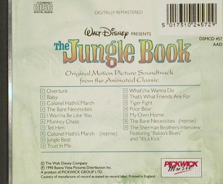 Jungle Book, the: Original Soundtr.fr.animatedClassic, Pickwick(), UK, 1990 - CD - 91252 - 11,50 Euro