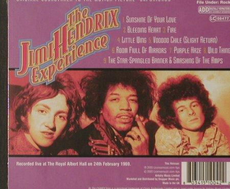 "Hendrix,Jimi: ""Experience"" OST, FS-New, Charly(), UK, 2005 - CD - 92102 - 10,00 Euro"