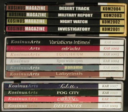 V.A.Kosinus: 14 CDs from Sound Library, 3 Boxen, Kosinus(), ,  - 14CD - 92630 - 7,50 Euro
