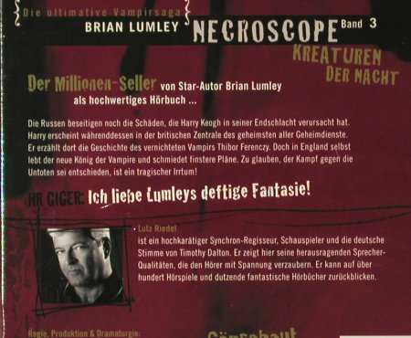 Necroscope - Band 3: Kreaturen der Nacht, Digi, FS-New, LPL - Lutz Riedel(), , 2006 - 4CD - 93825 - 14,00 Euro