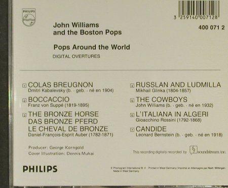 Williams,John. & Boston Pops Orch: Pops Around the World, Philips(400 071 2), , 82 - CD - 94905 - 10,00 Euro