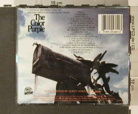 Color Purple,The: Origial Soundtrack by Quincy Jones, Qwest(9 25389-2), US, 1986 - 2CD - 95440 - 15,00 Euro