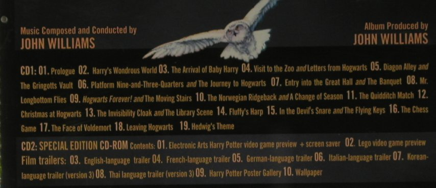 Harry Potter & The Philosopher's St: 19 Tr. By John Williams,sp.Ed., Warner(), D, 2001 - 2CD - 95746 - 11,50 Euro