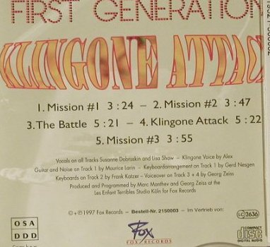 First Generation: Klingone Attack,5Tr., Fox(), D, 97 - CD5inch - 97014 - 3,00 Euro