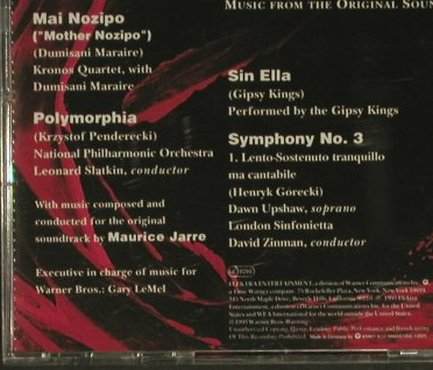Fearless: Music From Ost, Görecki, KronosQ., Elektra(), D, 1993 - CD - 97098 - 5,00 Euro
