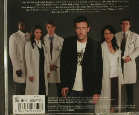 Dr.House: Orignal Television Soundtrack, Nettwerk(), FS-New, 2007 - CD - 97168 - 7,50 Euro