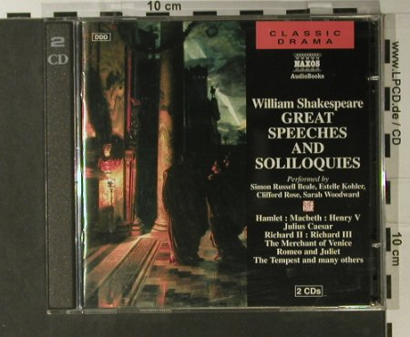 Shakespeare,William: Great Speeches And Soliloquies, Nexos(NA201512), D, 1994 - 2CD - 98093 - 10,00 Euro