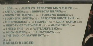 Alien Vs. Predator: Music By Harald Kloser, FS-New, Varese(VSD-6605), , 2004 - CD - 98909 - 7,50 Euro