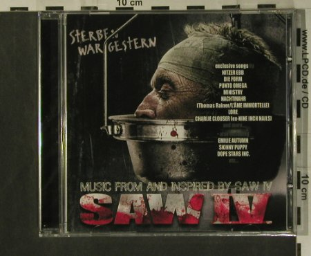Saw IV: Music from&inspired by, FS-New, Trisol(tri 333), EU, 2008 - CD - 99325 - 10,00 Euro