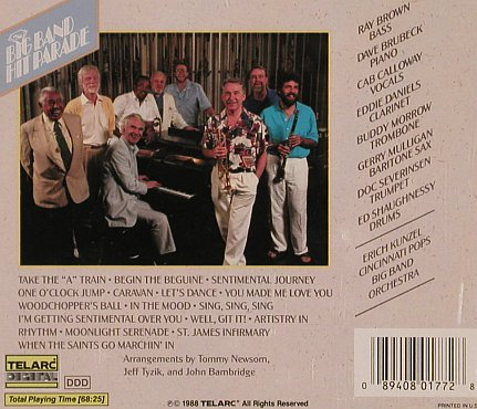 Kunzel,Erich & Cinncinati Pop Orch.: The Big Band Hit Parade,Promo, Telarc(), D, 1988 - CD - 83971 - 7,50 Euro