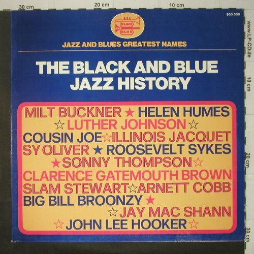 V.A.The Black and Blue: Jazz History, Foc, Black And Blue(950.500), F,  - LP - C6400 - 6,00 Euro
