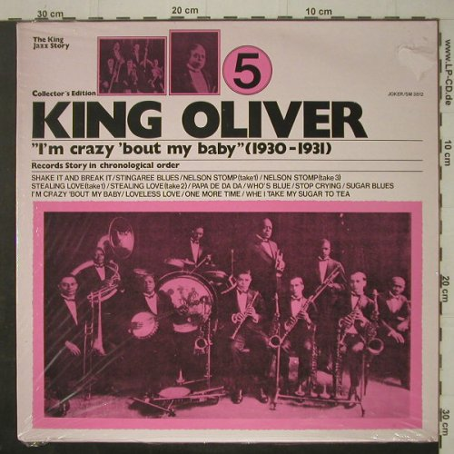 King Oliver: Vol.5,I'm Crazy'Bout My Baby, 30-31, Joker(SM 3812), I FS-New,  - LP - C7247 - 5,00 Euro