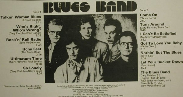Blues Band: Same, vg+/vg+, Amiga blue(8 56 006), GDR, 1983 - LP - C7463 - 2,50 Euro