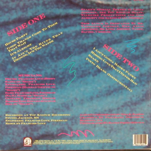 Johnson,Thomas'Snake': House Party, Ichiban(ICH 1031), MEX, 1988 - LP - E2440 - 5,00 Euro