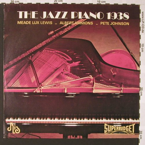 V.A.The Jazz Piano 1938: Meade Lux Lewis,A.Ammons..., Ris(RIS J 3105), I, 1975 - LP - E6917 - 5,00 Euro