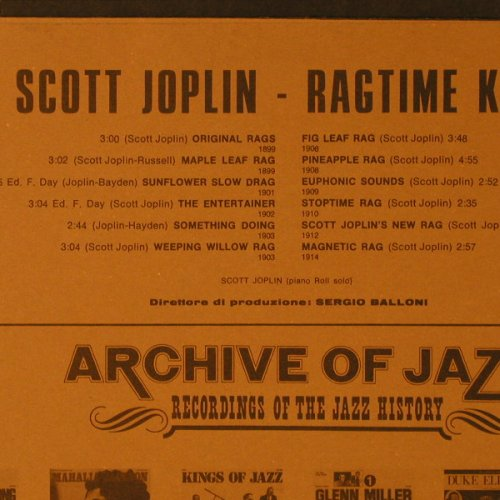 Joplin,Scott: Rag Time King, Vol.14, Archive of Jazz(101.661), I, 1971 - LP - E7573 - 5,00 Euro