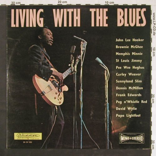 V.A.Living with The Blues: Brownie McGhee...Papa Lightfoot, Musidisc(30 CV 955), F, m-/vg+,  - LP - E813 - 4,00 Euro