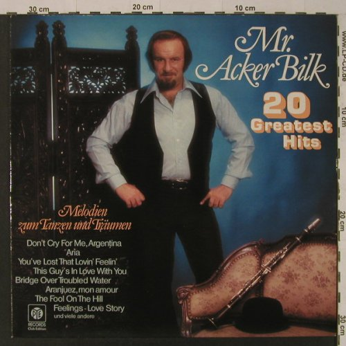 Acker Bilk,Mr.: 20 Greatest Hits, Club-Ed., PYE(34 275 6), D,  - LP - F4650 - 5,50 Euro