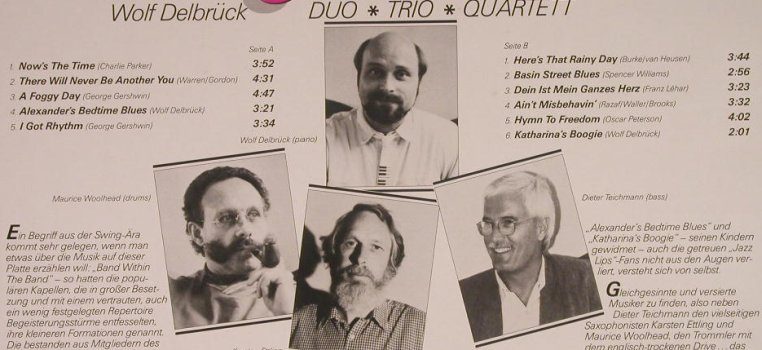Delbrück,Wolf - Duo,Trio,Quartett: Now's The Time, Delbrück(RP 10 845), D, 1987 - LP - F6470 - 5,50 Euro