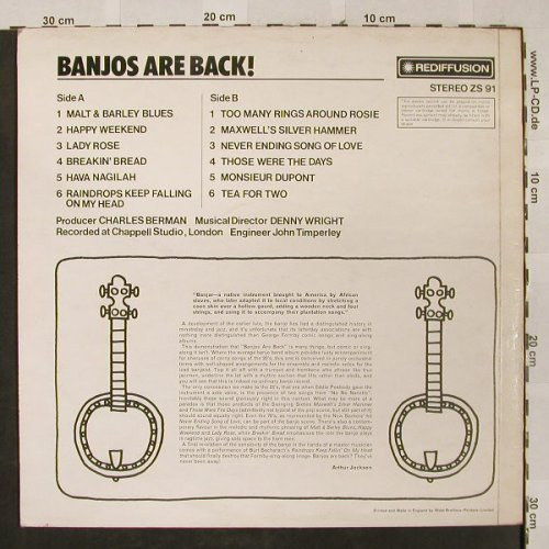 Banjos: Are Back!, Rediffusion,Stereo(ZS 91), UK, 1971 - LP - H2604 - 7,50 Euro
