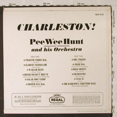 Pee Wee Hunt: Charleston!, vg+/m-,well playable, Regal(REG 1072), UK,  - LP - H2921 - 6,00 Euro