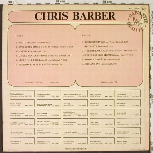 Barber,Chris & his Jazz Band: Petit Fleur, Kaleidoscope(KAL.19.009), F,  - LP - H3492 - 6,00 Euro