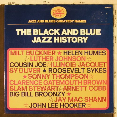V.A.The Black and Blue History: Milt Buckner...Roosevelt Sykes, Foc, Black and Blue(950.500), F, m-/vg+,  - LP - H3993 - 5,00 Euro