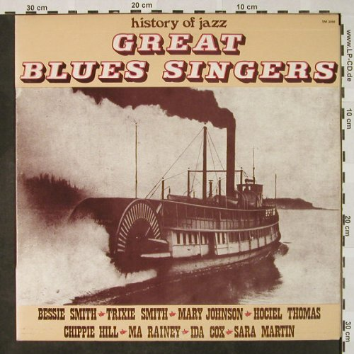 V.A.Great Blues Singers: Bessie Smith..Sara Martin, Joker(SM 3098), I, 1971 - LP - H4592 - 5,00 Euro