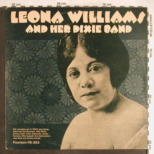 Williams,Leona & her Dixie Band: Same-1922-23, Fountain(FB-303), ,  - LP - H6228 - 6,00 Euro