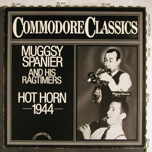 Spanier,Muggsy & his Ragtimers: Hot Horn 1944, vg+/m-, Commodore(6.26167 AG), D, 1985 - LP - H6435 - 4,00 Euro