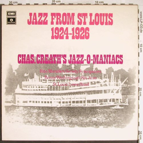 V.A.Jazz from St Louis 1924-1926: Chas.Creath's Jazz-O-Maniacs, EMI Parlophone(PMC 7157), UK,  - LP - H6536 - 5,00 Euro