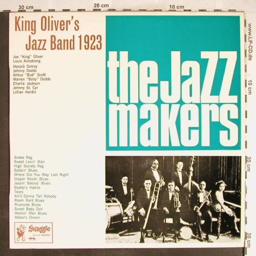 King Oliver's Jazz Band 1923: The Jazzmakers, Swaggie Rec.(S1257), AUS,  - LP - H6599 - 6,50 Euro