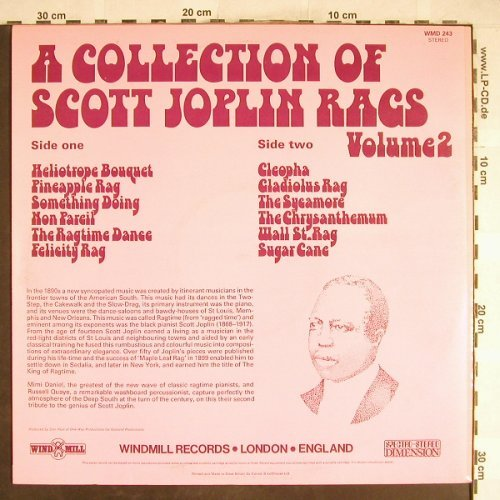Daniel,Mimi & Russell Quaye: A Collection Of Scott Joplin Rags 2, Wind Mill(WMD 243), UK, 1975 - LP - H6618 - 6,00 Euro