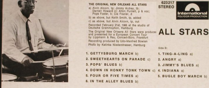 New Orleans All Stars: The New Original, Polydor Int.(623 217), D, 1966 - LP - H6621 - 9,00 Euro