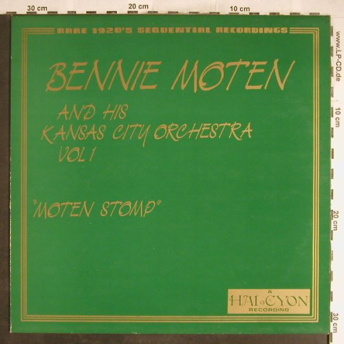 Moten,Bennie  &h.Kansas City Orch.: Moten Stomp, Halcyon(HDL 108), UK, 1986 - LP - H6672 - 5,00 Euro