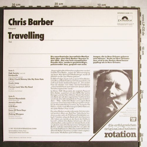 Barber,Chris: Travelling  (Jazz 5), Polystar(2428 111), D, Ri, 1967 - LP - H6695 - 5,00 Euro