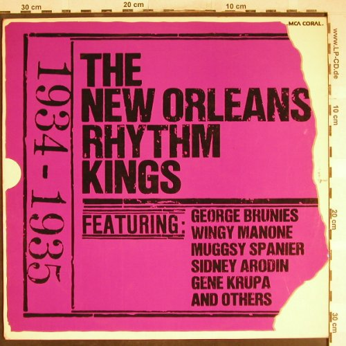 New Orleans Rhythm Kings: Same, 1934-1935, MCA Coral(COPS 6698), D, 1974 - LP - H6728 - 5,00 Euro