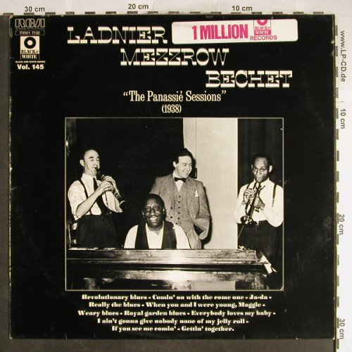 Ladnier,Tommy / Mezzrow / Bechet: The Panassié Sessions, 1938, RCA B&W Vol.145(FXM1 7132), F, vg+/vg+,  - LP - H6765 - 4,00 Euro
