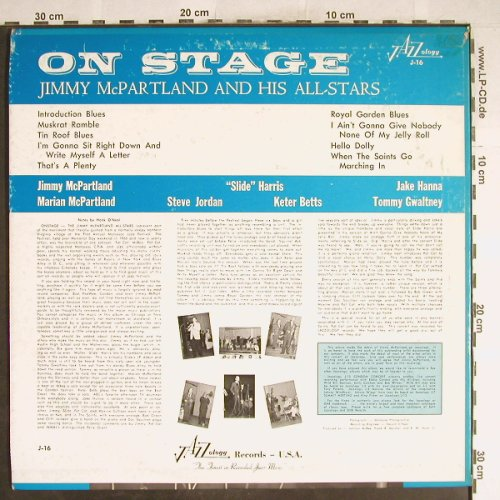 McPartland,Jimmy: On Stage, vg+/m-, Jazzology(J-16), US,  - LP - H6772 - 7,50 Euro