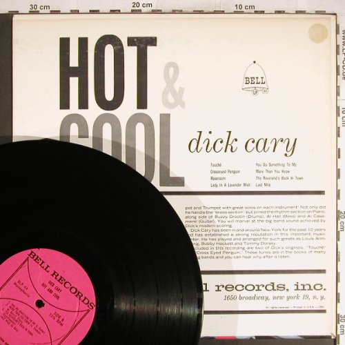 Cary,Dick: Hot and Cool, Bell(BLP 44), US, 1961 - LP - H6870 - 9,00 Euro