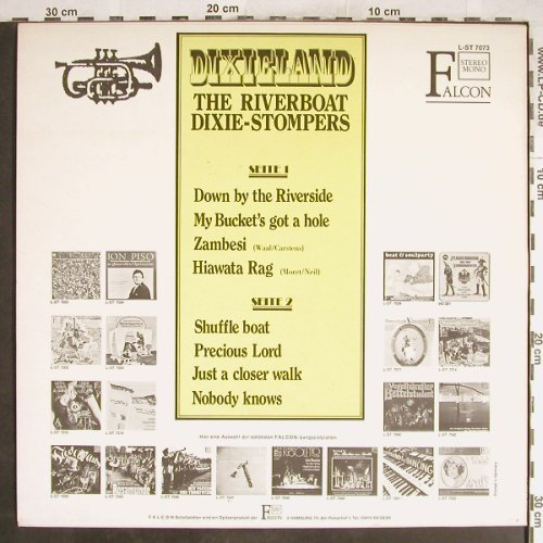 Riverboat Dixie-Stompers: Dixieland, Falcon(L-ST 7073), D,  - LP - H6963 - 5,50 Euro
