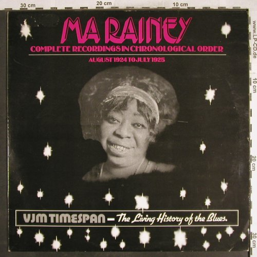 Ma Rainey: 1924-1925, Complete Recordings.., VJM(VLP 82), UK, m-/vg+,  - LP - H7427 - 6,00 Euro