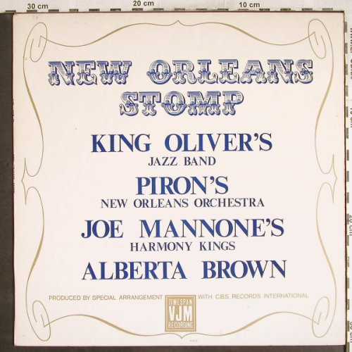 V.A.New Orleans Stomp: King Oliver's J.B...Alberta Brown, VJM(VLP 35), UK,  - LP - H7440 - 6,00 Euro