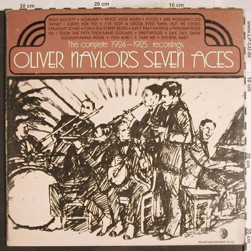 Naylor's Seven Aces,Oliver: The Complete 1924-1925 recordings, Fountain(FJ 103), UK,m-/vg+,  - LP - H7449 - 7,50 Euro
