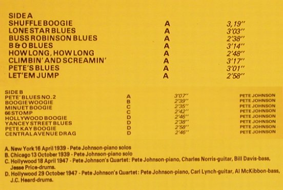 Johnson,Pete: Master of Blues&Boogie Woogie,Vol.2, Oldie Blues(1904-1967)(OL 2806), NL,m-/vg+,  - LP - H8574 - 6,00 Euro