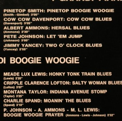 V.A.I Grandi Pianisti di Boogie Woo: Pinetop Smith..P.Johnson,Ammons.., Variety(REL-ST 19149), I,  - LP - H8578 - 5,00 Euro