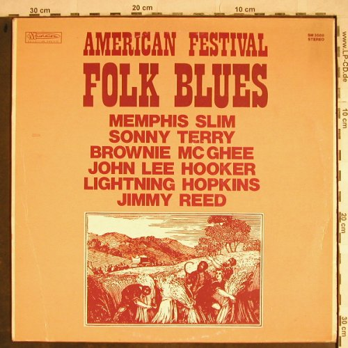 V.A.American Festival Folk Blues: J.L.Hooker..Lightning Hopkins, Joker(SM 3588), I, 1973 - LP - H8624 - 5,00 Euro