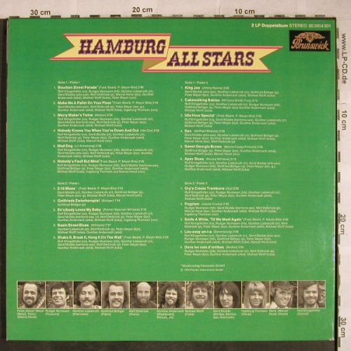 Hamburg All Stars: Same, Foc , Gottfried Böttger, Brunswick(00 2654 801), D, 1974 - 2LP - H9192 - 7,50 Euro