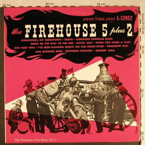 Firehouse Five Plus Two: The Firehouse Five Story,Vol.3, Good Time Jazz(GTJ L-12012), US,  - LP - H931 - 5,00 Euro