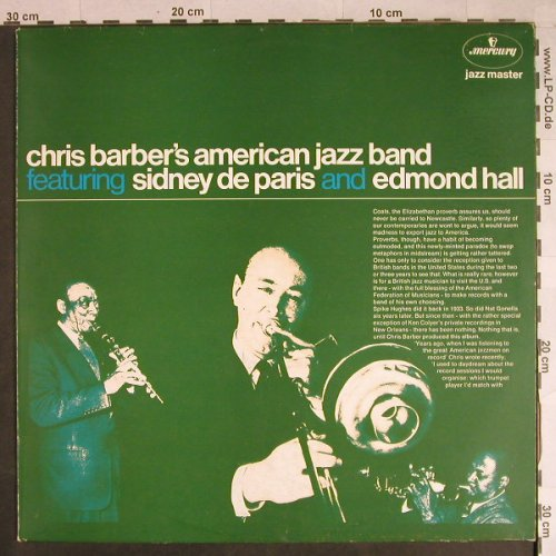 Barber's American Jazz Band,Chris: feat.Sidney de Paris&Edmond Hall'60, Mercury(6499 357), NL,Ri,woc, 1960 - LP - H998 - 5,00 Euro